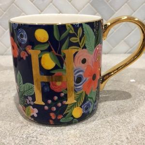 Monogrammed mug with the letter H. New with tags!